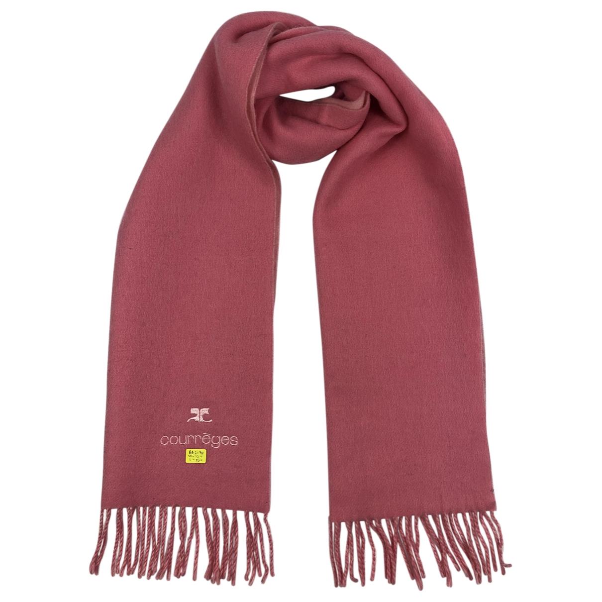 Courreges - Foulard   pour femme en laine - rose