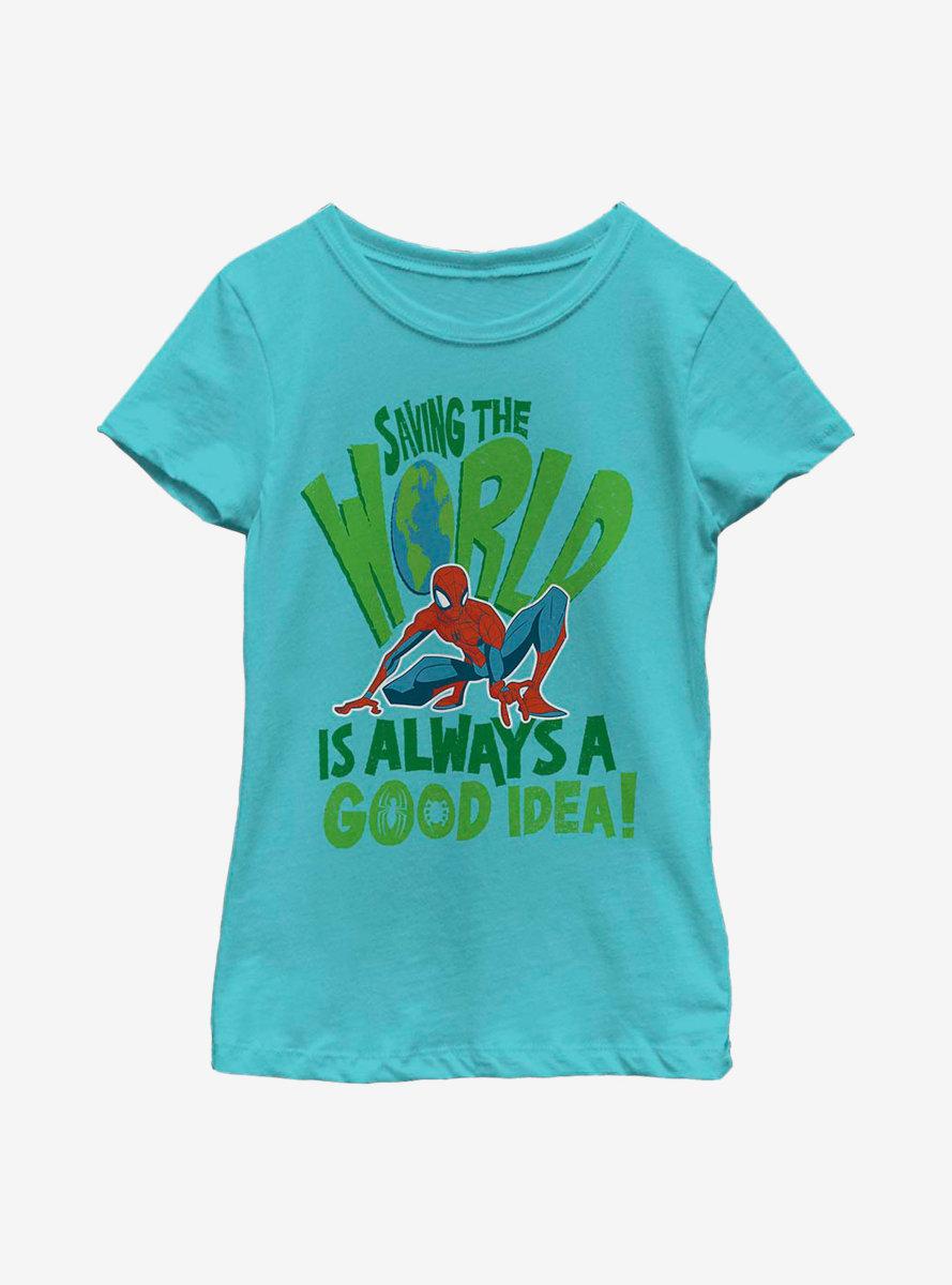 Marvel Spider-Man Spider World Youth Girls T-Shirt