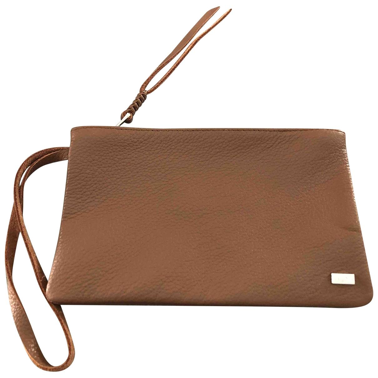 Callista Crafts \N Camel Leather Clutch bag for Women \N