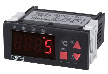 RS PRO On/Off Temperature Controller, 77 x 35mm, NTC Input, 24 V ac/dc Supply
