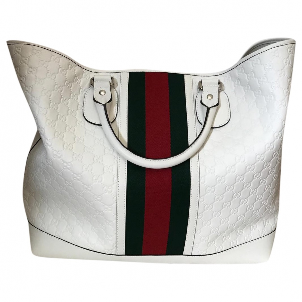 Gucci \N White Leather Travel bag for Women \N