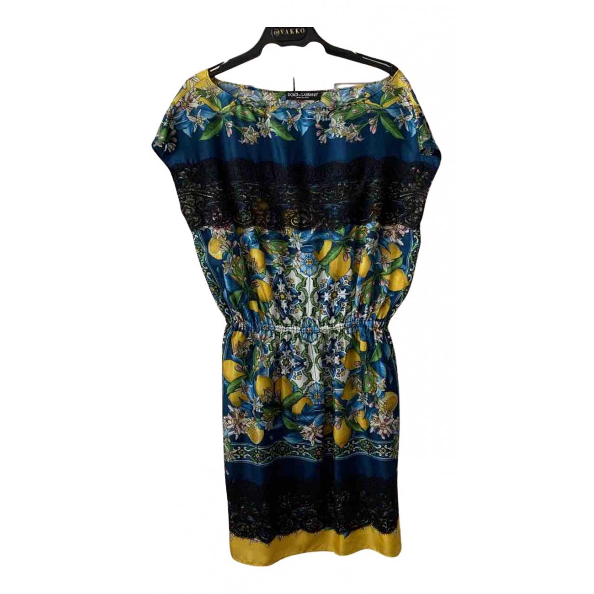 Dolce & Gabbana N Multicolour Silk dress for Women 40 IT