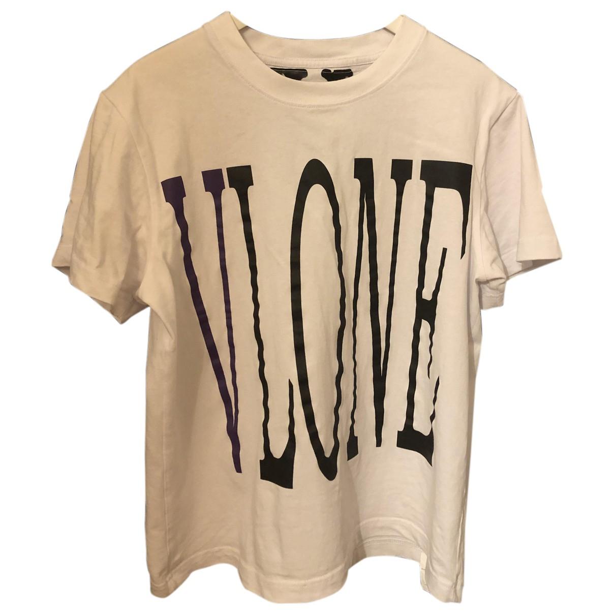 Vlone - Tee shirts   pour homme en coton - blanc