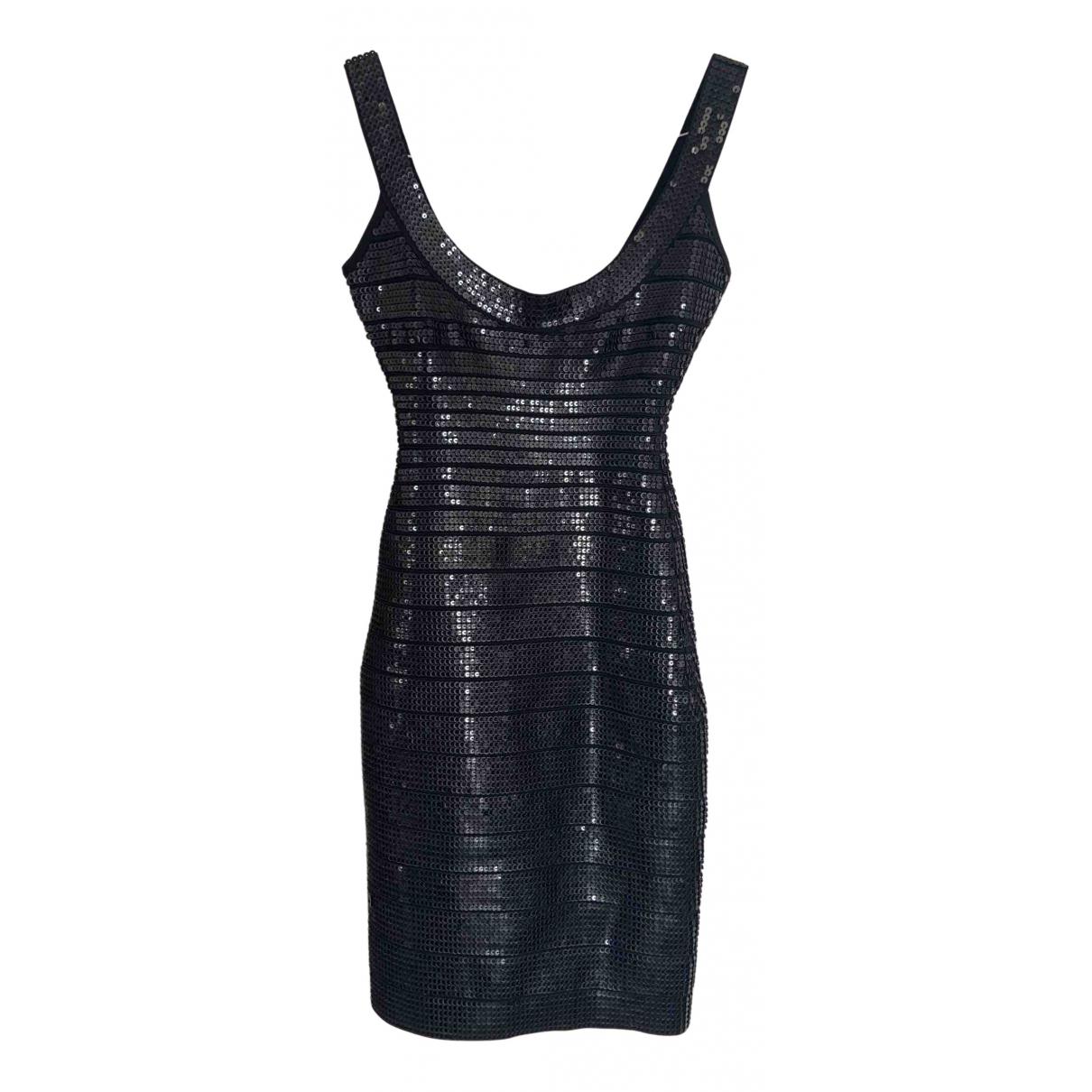Herve Leger N Black Glitter dress for Women 36 FR
