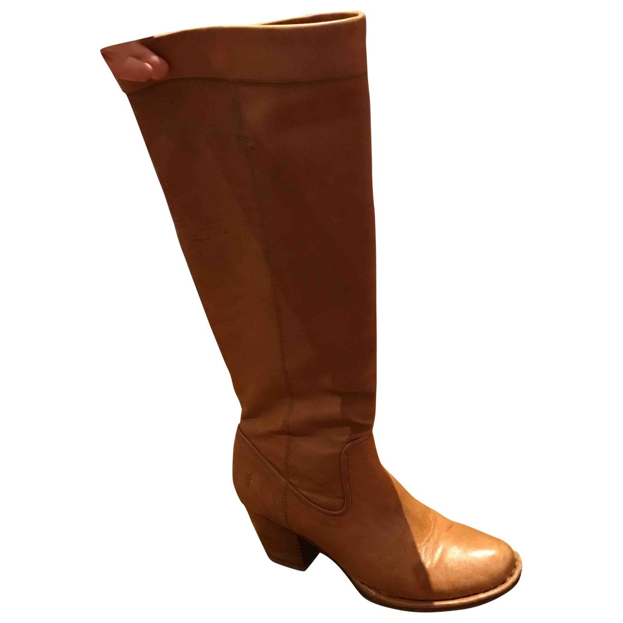 Frye \N Camel Leather Boots for Women 38 EU