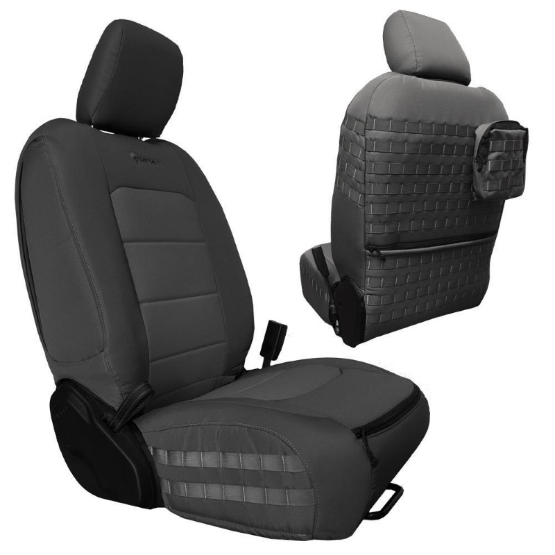 Bartact JTTC2019FPGG Front Seat Covers 2019 and Up Jeep Gladiator Graphite/Graphite