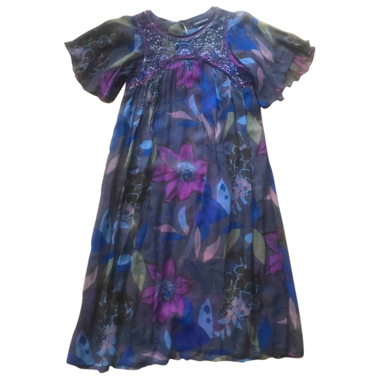 Antik Batik \N Kleid in  Bunt Seide