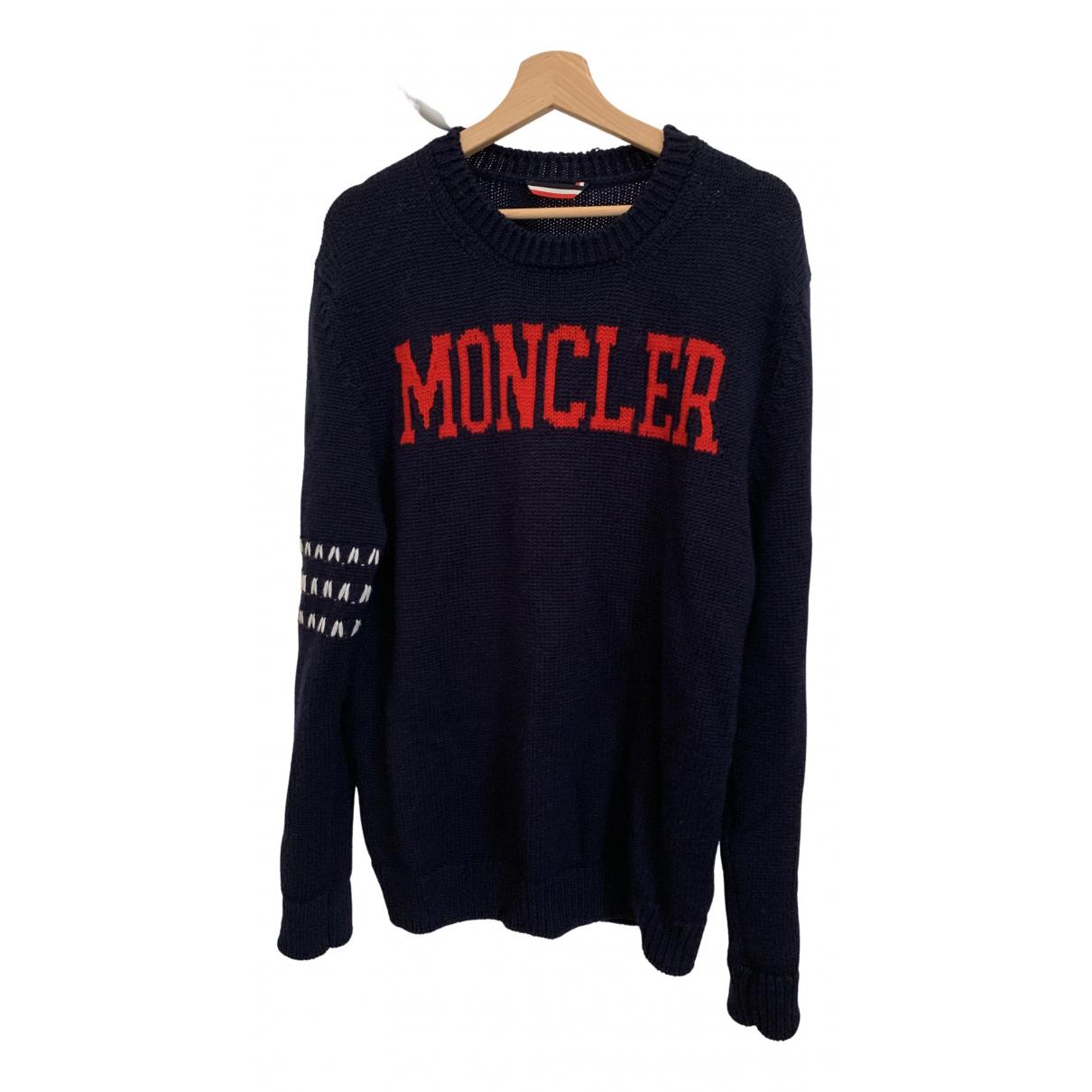 Moncler Genius - Pull Moncler n°2 1952 + Valextra pour femme en laine - marine