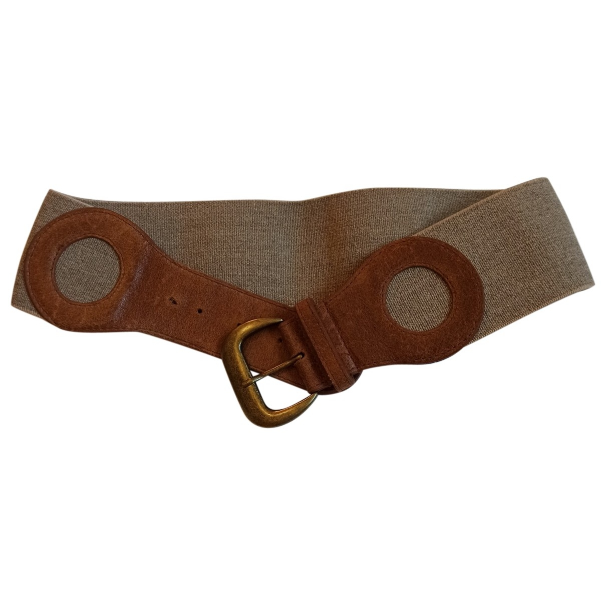 French Connection \N Khaki Leather belt for Women L International