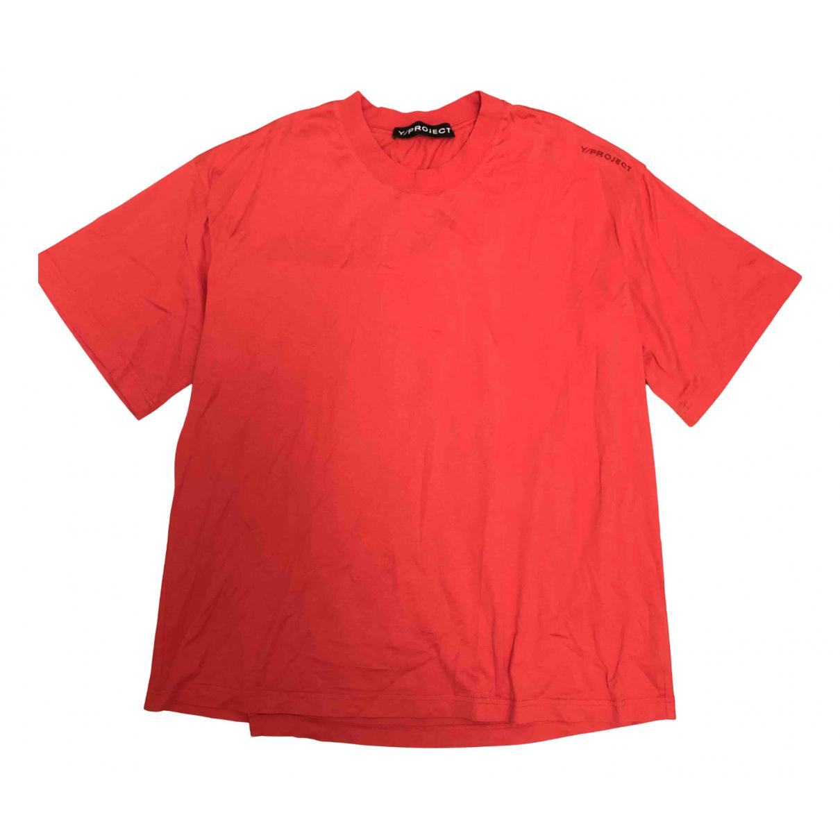 Y/project - Top   pour femme en coton - rouge
