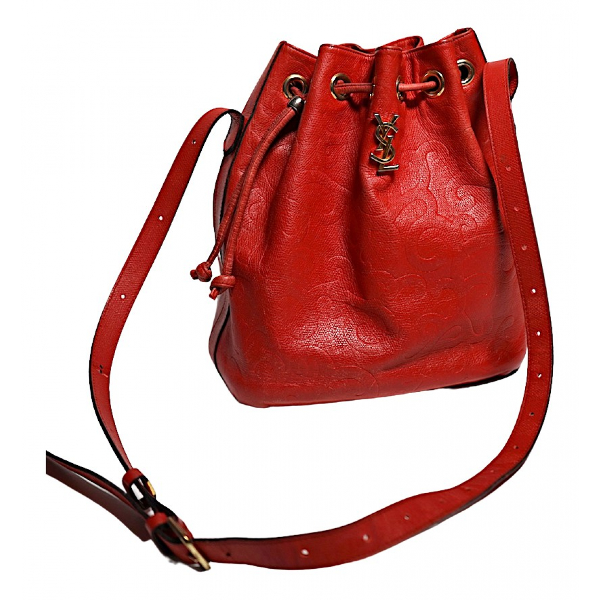 Yves Saint Laurent \N Handtasche in  Rot Leder