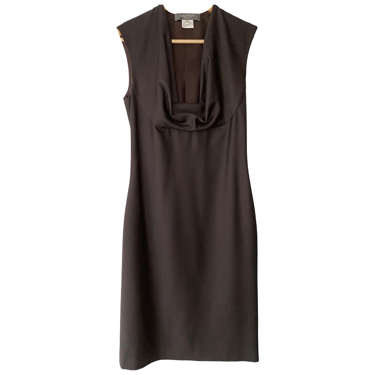 Lanvin - Robe   pour femme en laine - marron