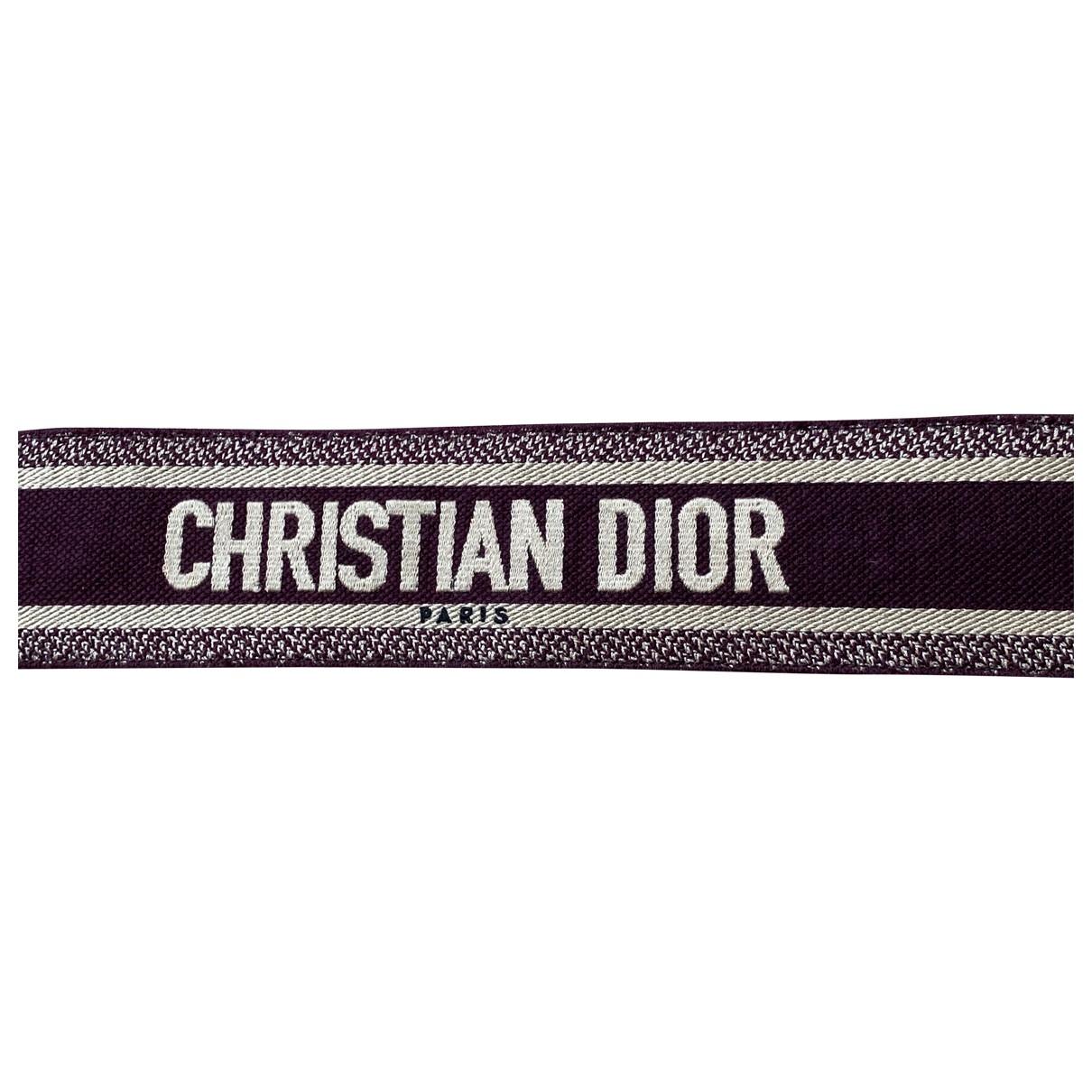 Dior - Petite maroquinerie   pour femme en toile - bordeaux