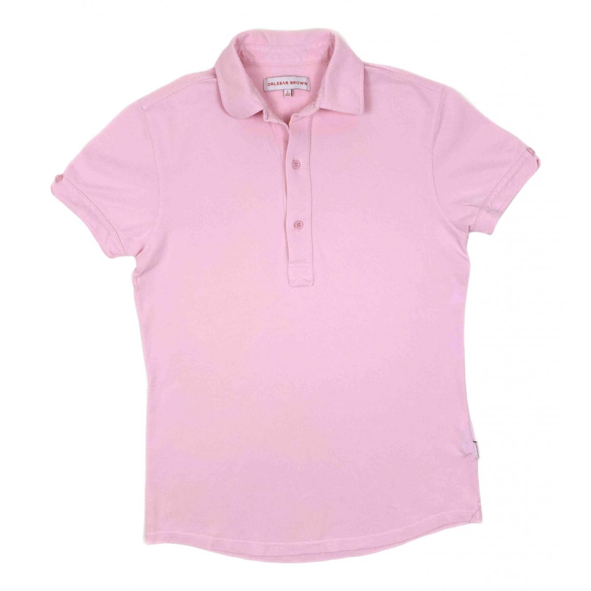 Orlebar Brown \N Poloshirts in  Rosa Baumwolle