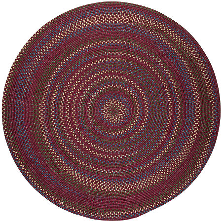 Colonial Mills Andreanna Reversible Braided Round Rug, One Size , Red