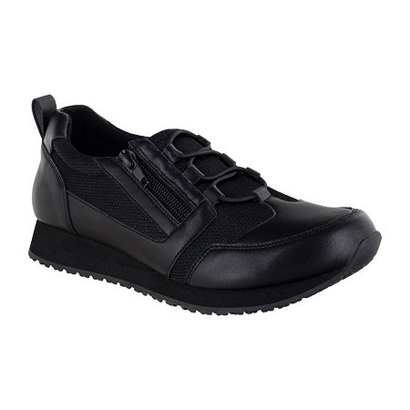 Easy Works By Easy Street Womens Mckinley Round Toe Oxford Shoes, 10 Medium, Black