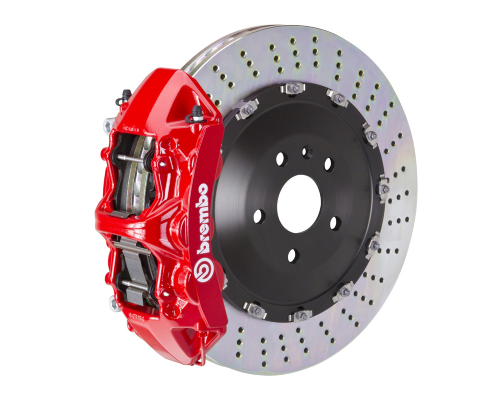 Brembo GT 405x34 2-Piece 6 Piston Red Drilled Front Big Brake Kit