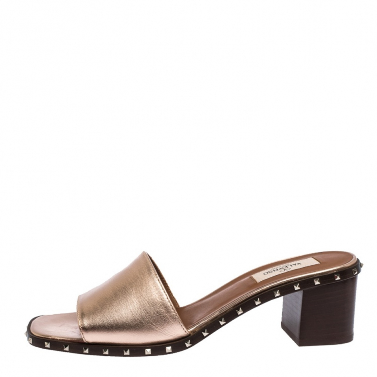 Valentino Garavani \N Sandalen in  Metallic Leder