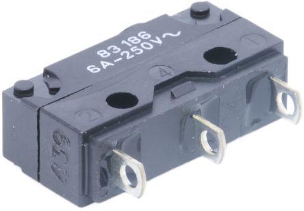 Crouzet SPDT-NO/NC Button Microswitch, 6 A @ 250 V ac