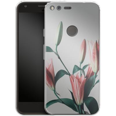 Google Pixel Silikon Handyhuelle - Blume von SONY