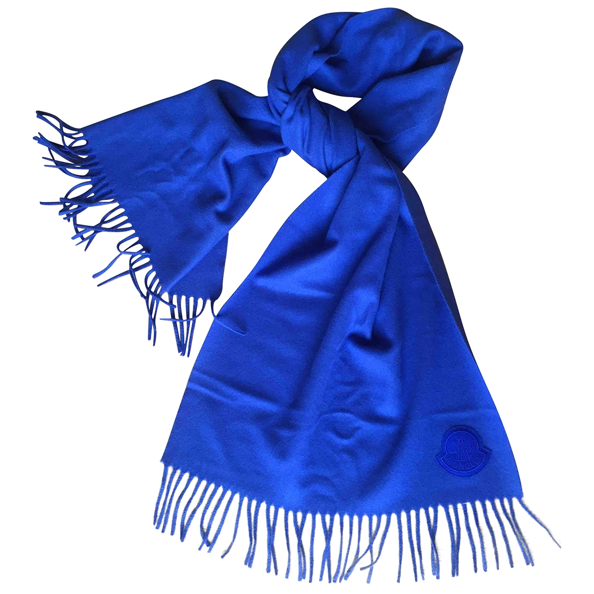 Moncler \N Blue Wool scarf for Women \N
