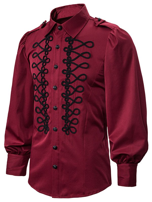 Lantern Sleeve Button Up Gothic Shirt