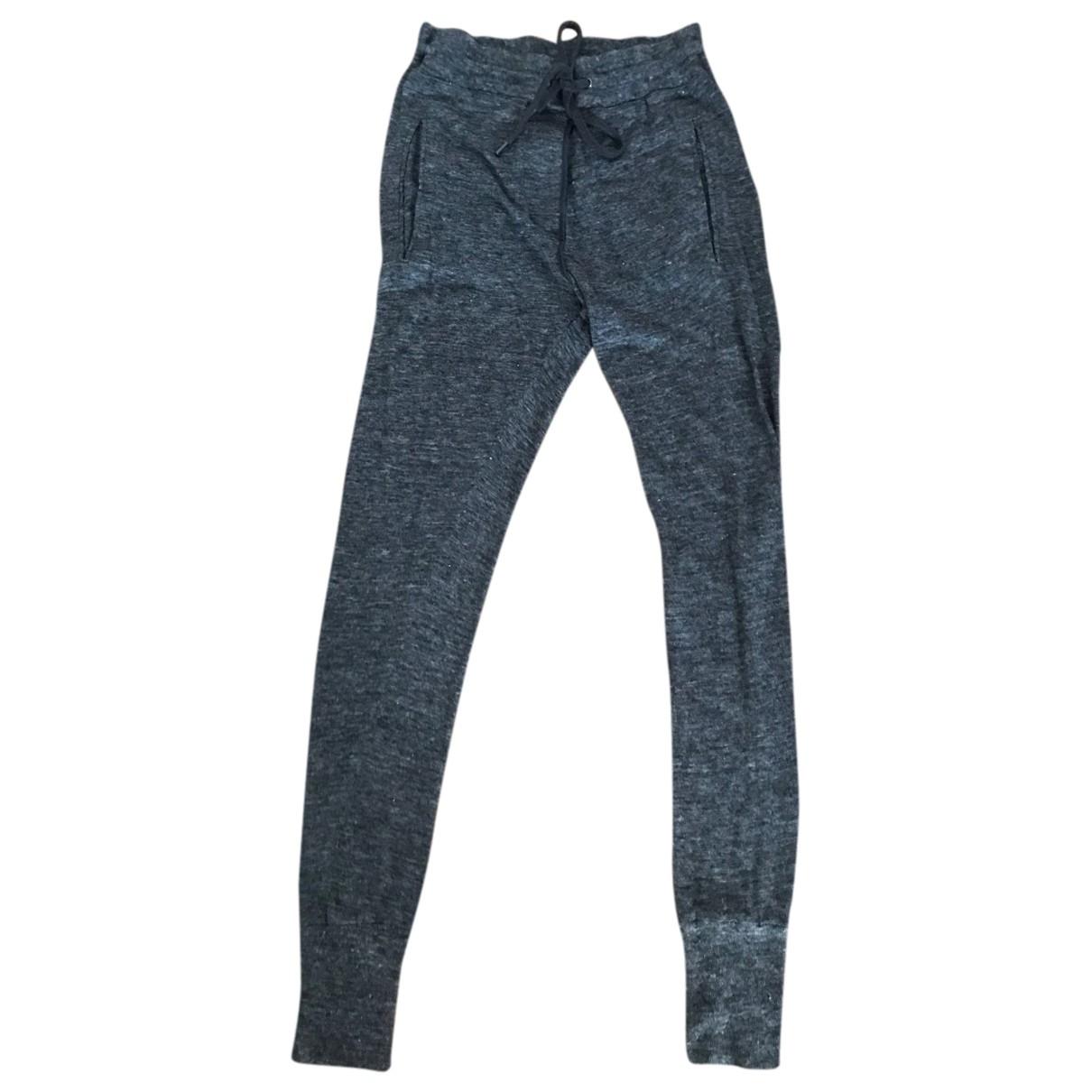 Isabel Marant Etoile \N Grey Linen Trousers for Women XS International