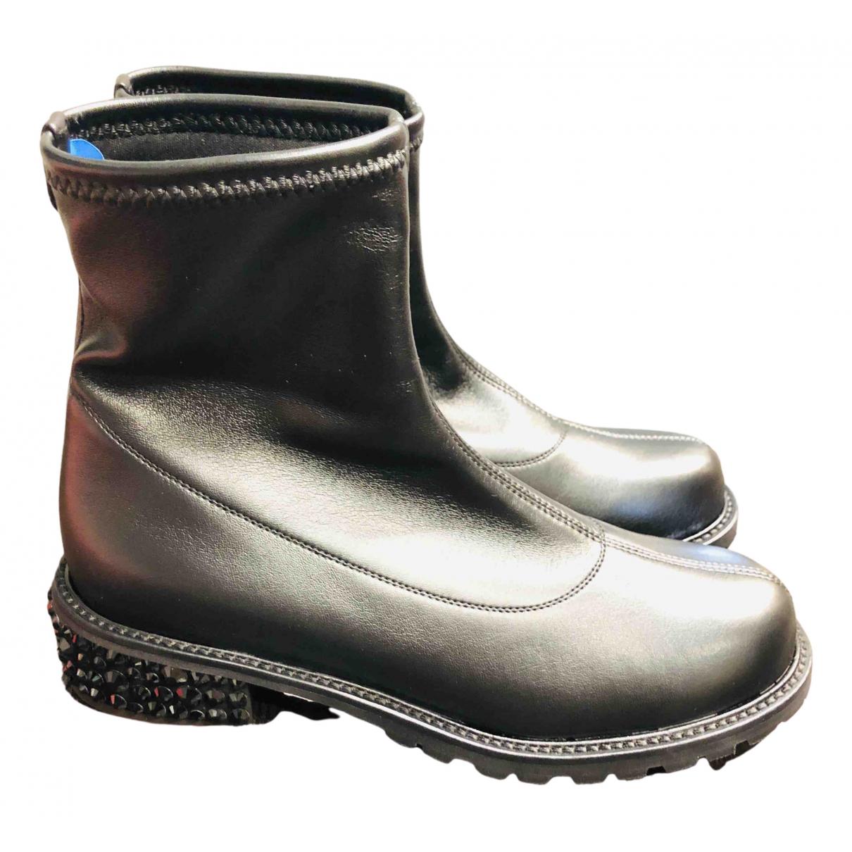 Giuseppe Zanotti \N Black Leather Ankle boots for Women 36.5 EU