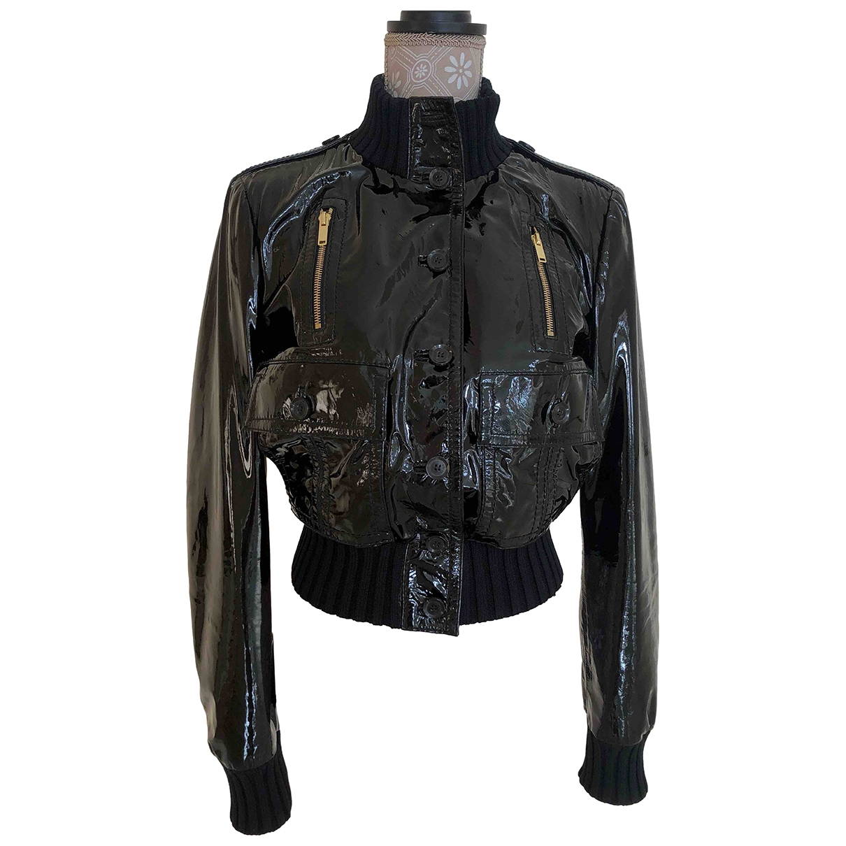 Gucci \N Black Leather jacket for Women 44 IT