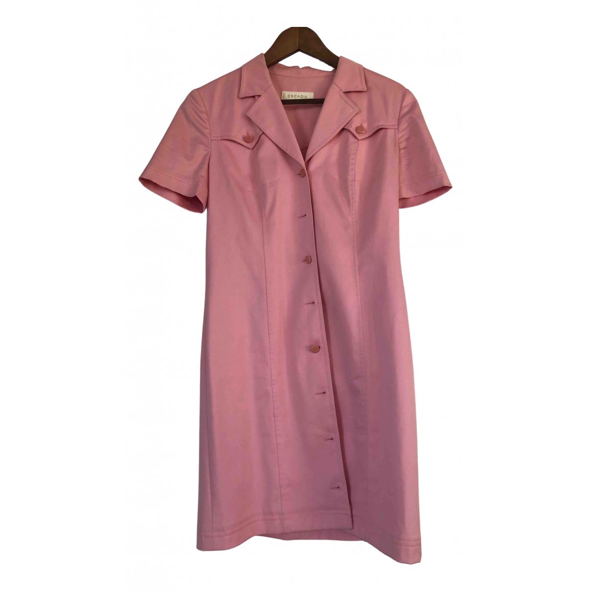 Escada N Pink Cotton dress for Women 38 FR