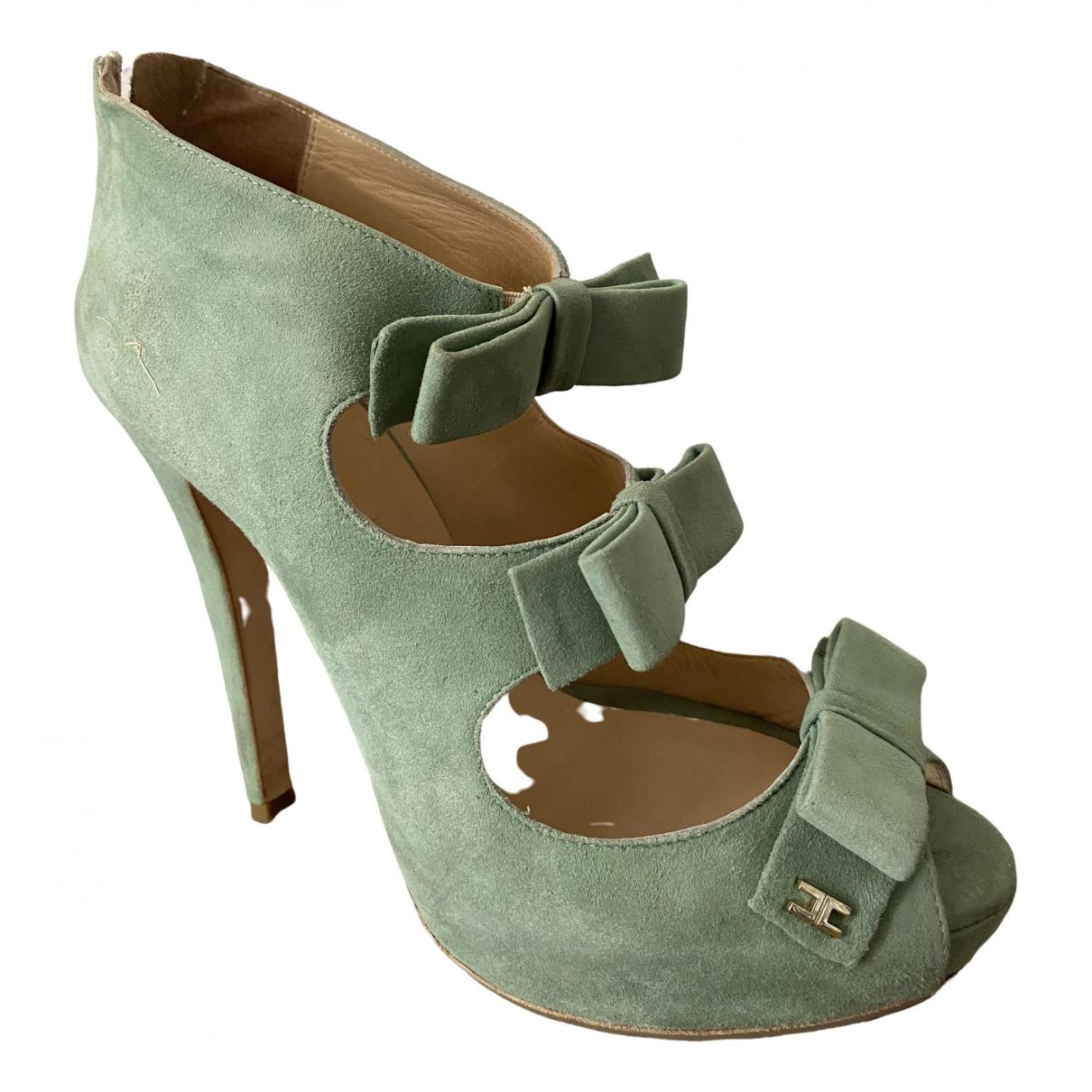 Elisabetta Franchi \N Green Suede Heels for Women 38 IT