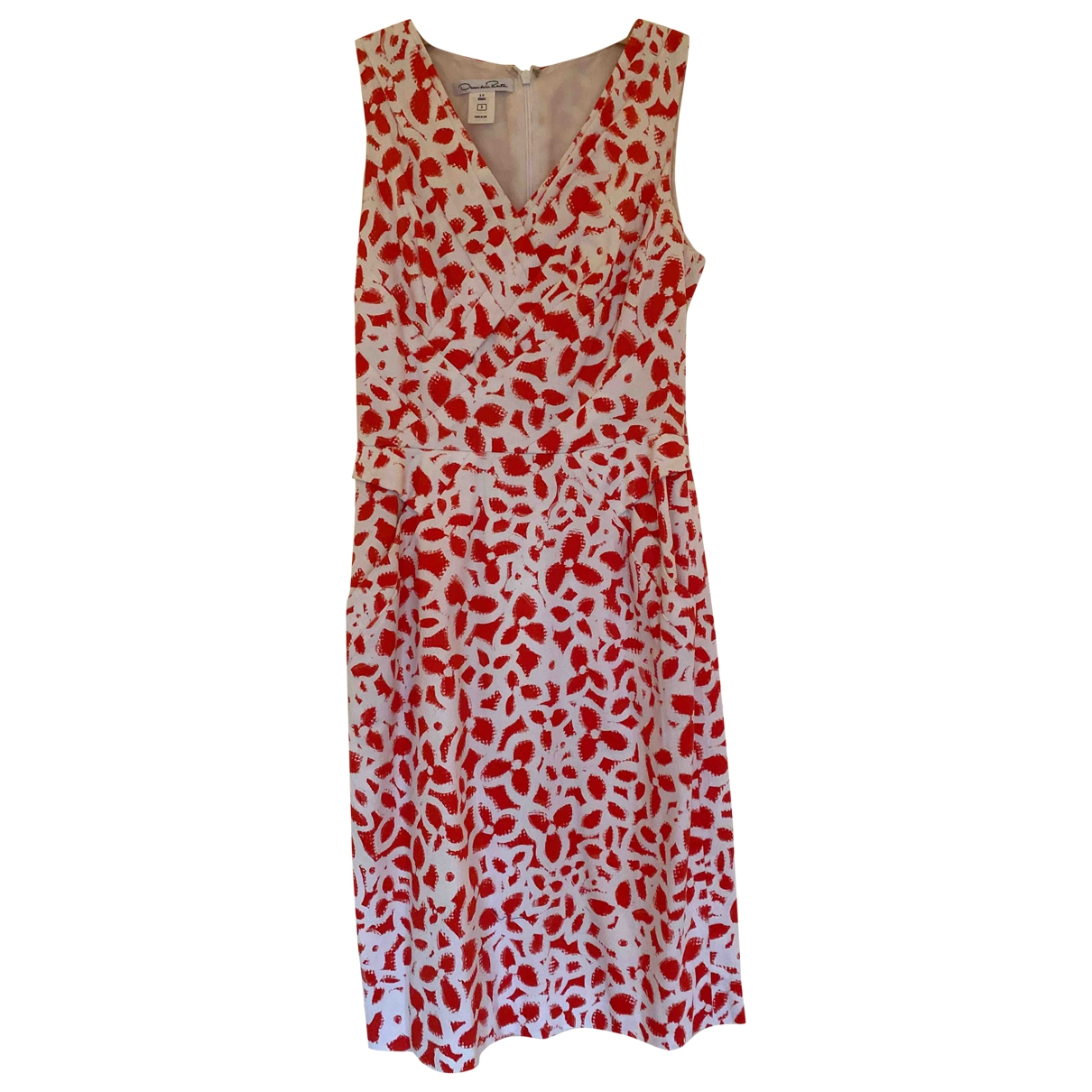 Oscar De La Renta \N Kleid in  Rot Baumwolle - Elasthan