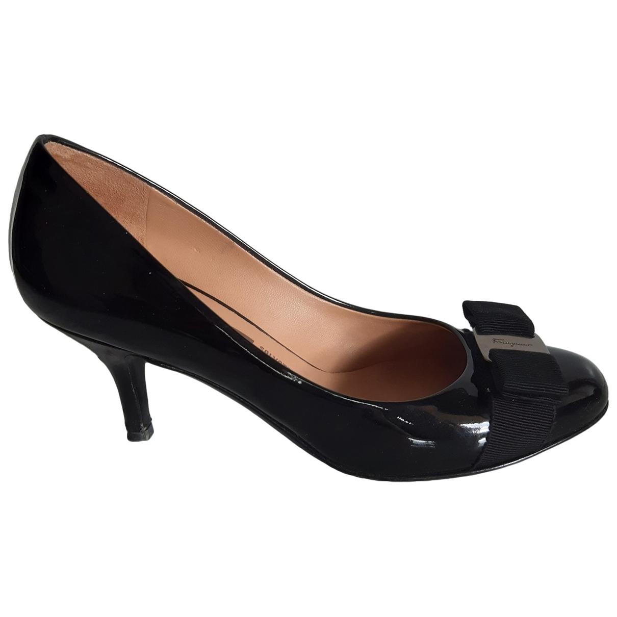 Salvatore Ferragamo \N Black Patent leather Heels for Women 6 US