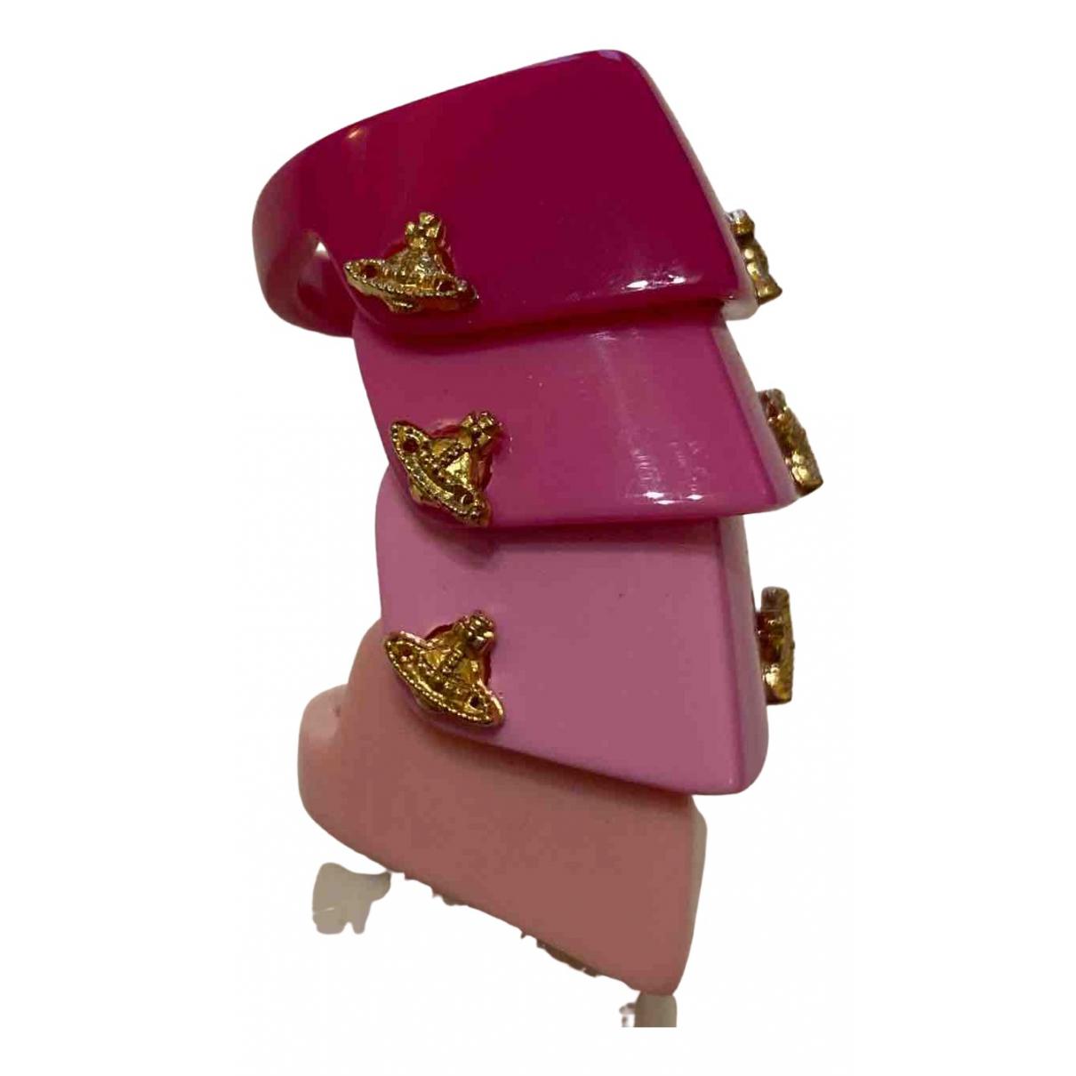 Vivienne Westwood \N Ring in  Rosa Kunststoff