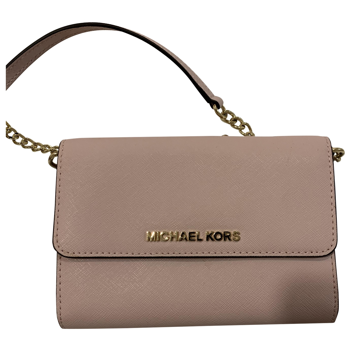 Michael Kors \N Clutch in  Rosa Fell