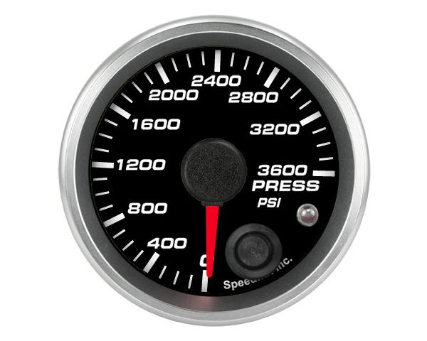 SpeedHut GR-PRESS-01 CNG Pressure Gauge 0-3600psi with Warning