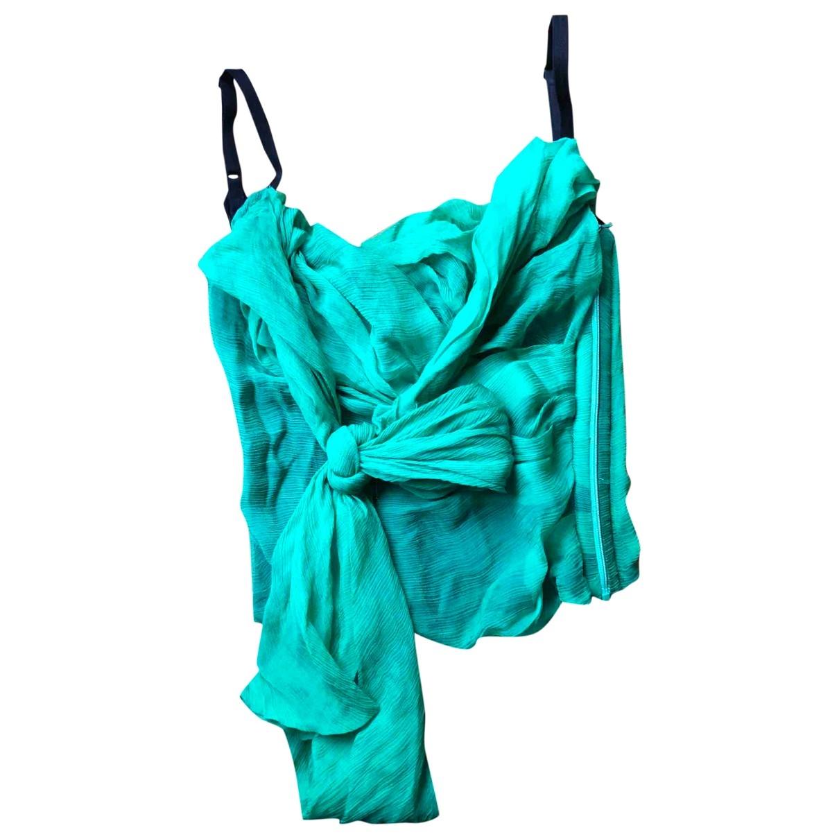 Dolce & Gabbana - Top   pour femme en soie - vert