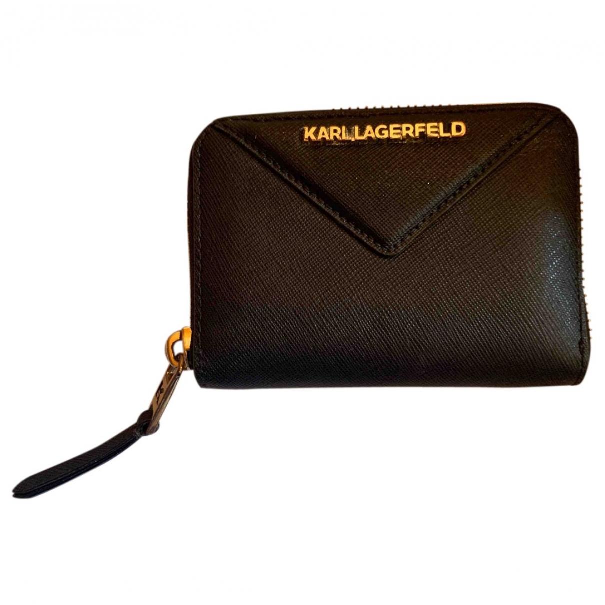 Karl Lagerfeld \N Black Leather wallet for Women \N