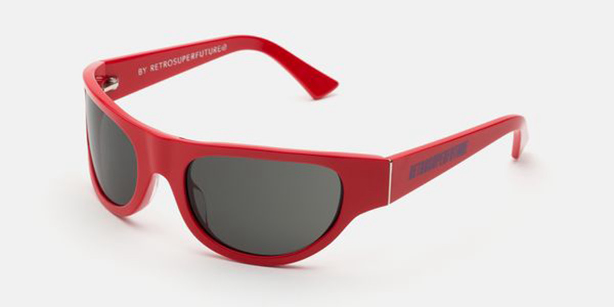 Retrosuperfuture Reed Red Special IUJ2 VCH Mens Sunglasses Red Size 58