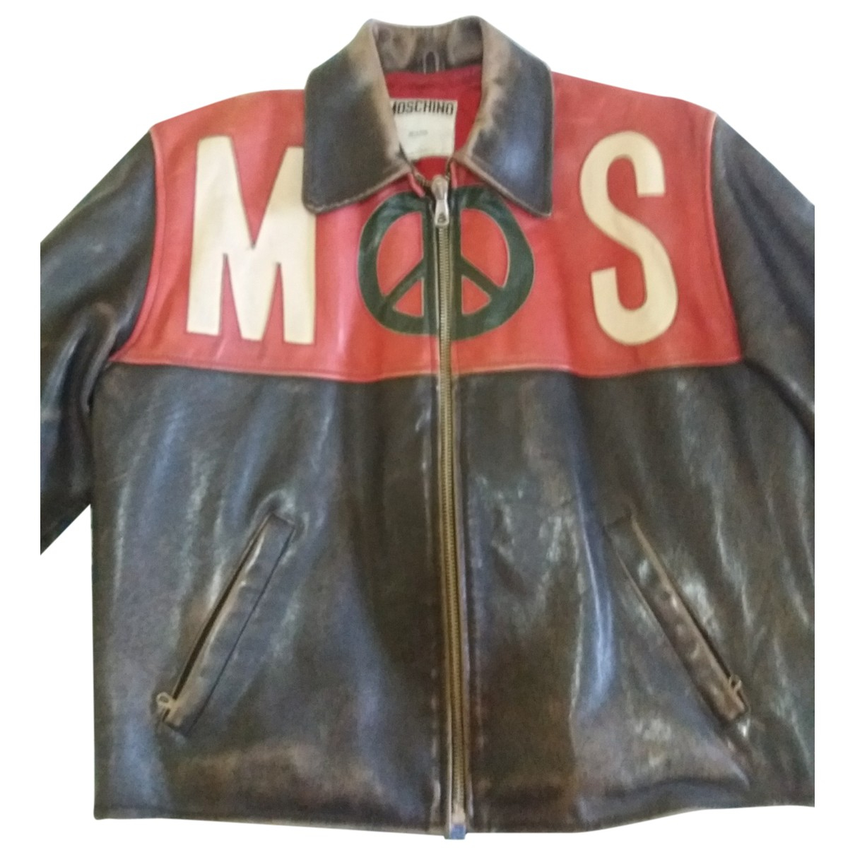 Moschino Cheap And Chic \N Jacke in  Braun Leder