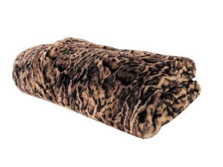 Jungle Cat Collection PBEZ1667-6096-TC 60W x 96L Faux Fur Luxury