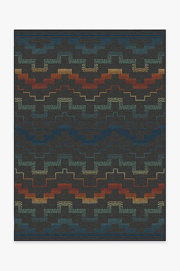 Washable Rug Cover | Outdoor Meseta Multicolor Rug | Stain-Resistant | Ruggable | 5'x7'