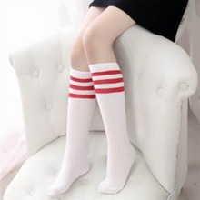 Stripe Knee Length Socks