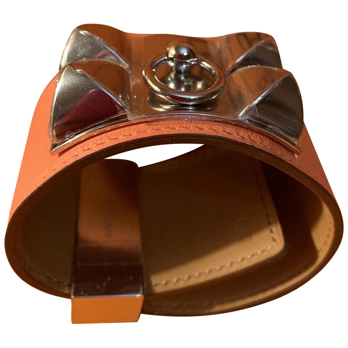 Hermes Collier de chien  Armband in Leder
