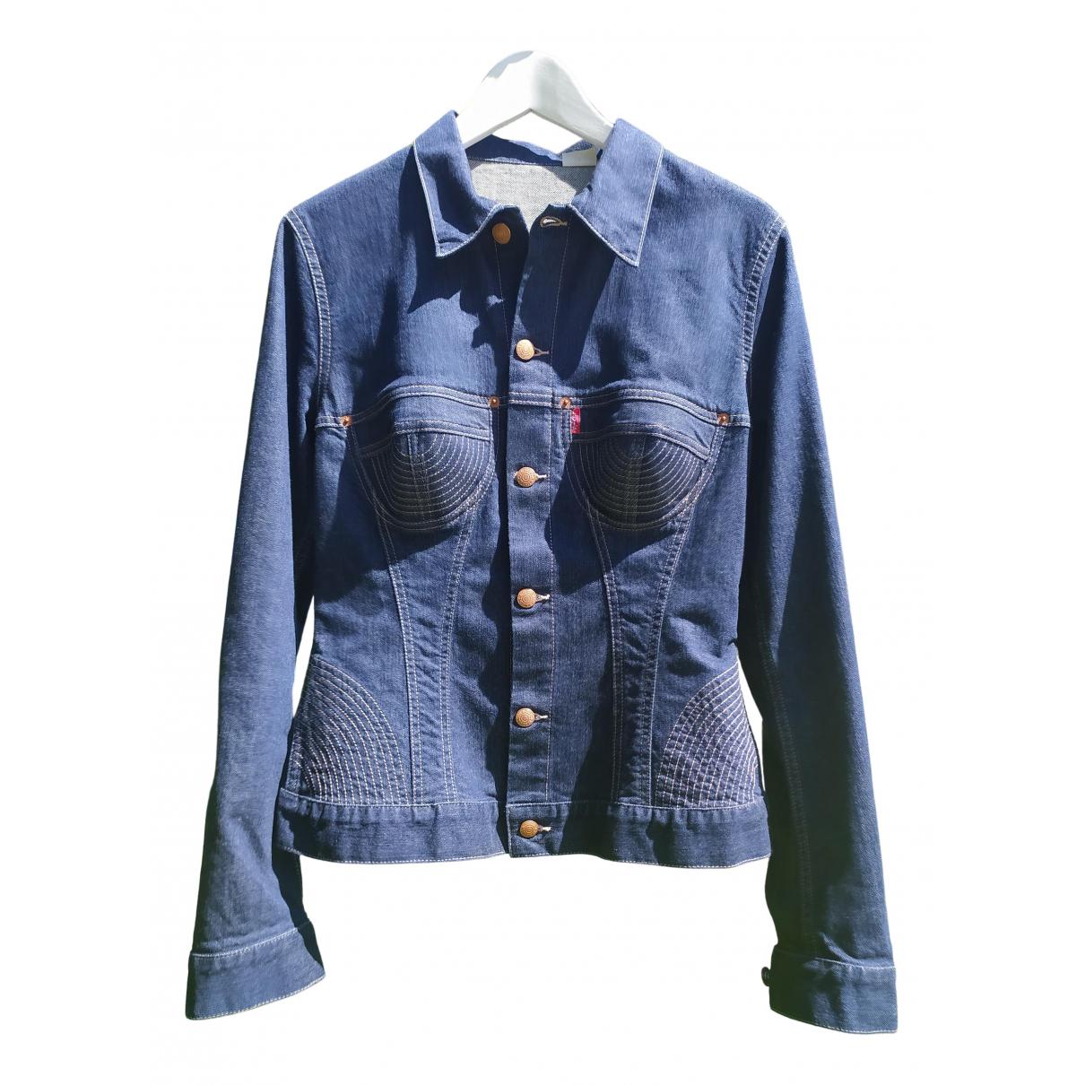 Jean Paul Gaultier N Blue Denim - Jeans jacket for Women 36 FR