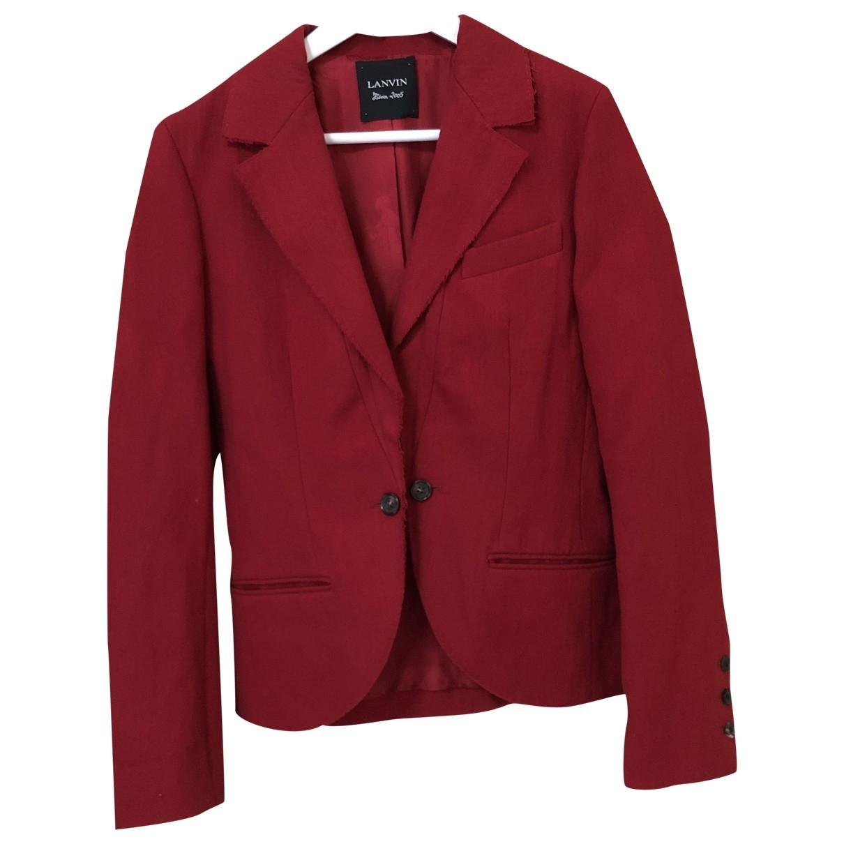 Lanvin - Veste   pour femme en laine - rouge