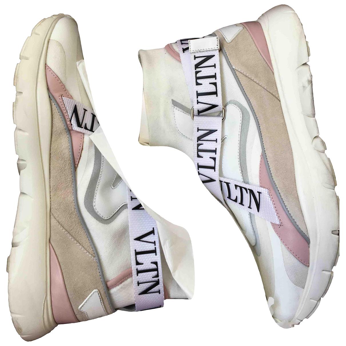 Valentino Garavani - Baskets Heroes VLTN pour femme en cuir - blanc