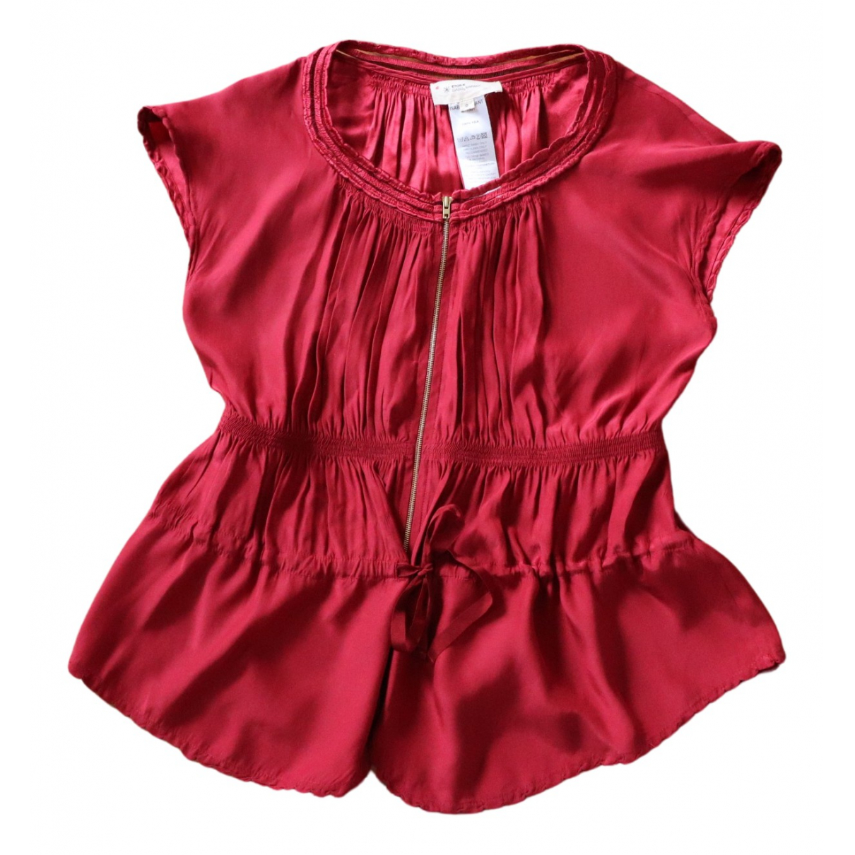 Isabel Marant Etoile \N Red Silk  top for Women 0 0-5