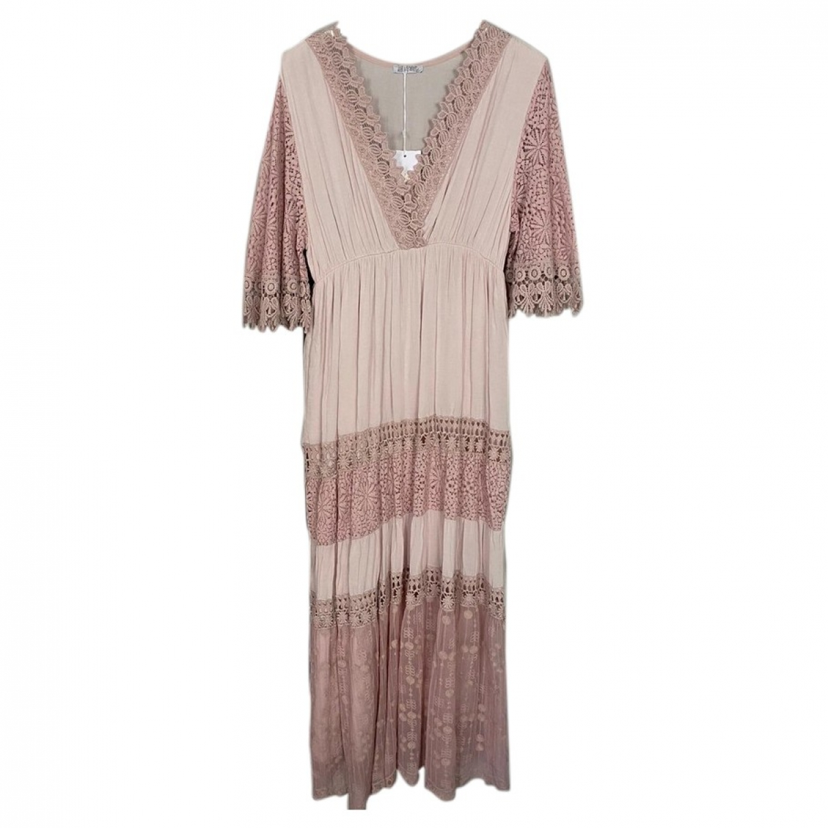 Non Signé / Unsigned \N Pink Lace dress for Women One Size FR