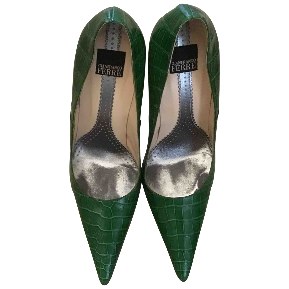 Gianfranco Ferre - Escarpins   pour femme en alligator - vert